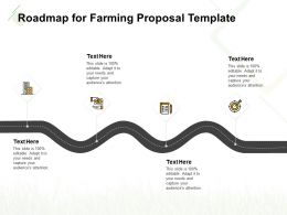 Roadmap For Farming Proposal Template Ppt Powerpoint Presentation Ideas