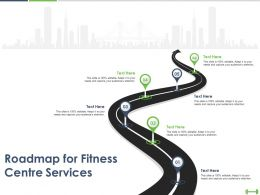 Roadmap For Fitness Centre Services Ppt Powerpoint Presentation Example File