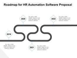 Roadmap For HR Automation Software Proposal Ppt Demonstration