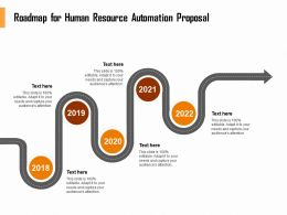 Roadmap For Human Resource Automation Proposal Ppt Example File