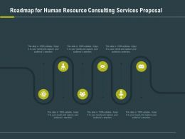Roadmap For Human Resource Consulting Services Proposal Ppt Slide Display