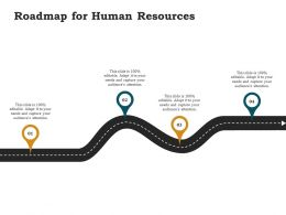 Roadmap For Human Resources Ppt Powerpoint Presentation Infographics