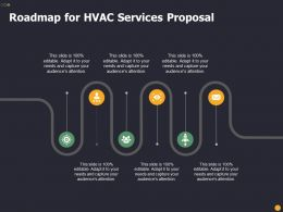 Roadmap For HVAC Services Proposal Ppt Powerpoint Presentation Icon