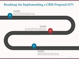 Roadmap For Implementing A CRM Proposal R72 Ppt Powerpoint Presentation Icon Picture