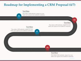 Roadmap For Implementing A CRM Proposal R73 Ppt Powerpoint Presentation Icon Pictures