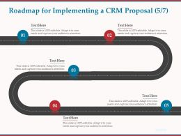 Roadmap For Implementing A CRM Proposal R74 Ppt Powerpoint Presentation Icon