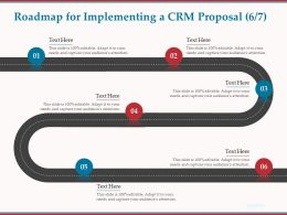 Roadmap For Implementing A CRM Proposal R75 Ppt Powerpoint Presentation File