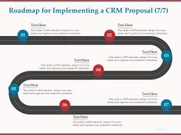 Roadmap For Implementing A CRM Proposal R76 Ppt Powerpoint Presentation Gallery