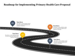 Roadmap For Implementing Primary Health Care Proposal Ppt Icon