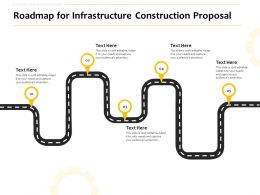 Roadmap For Infrastructure Construction Proposal Ppt Powerpoint Layouts