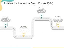 Roadmap For Innovation Project Proposal A1091 Ppt Powerpoint Presentation Ideas Slide Download