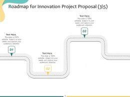 Roadmap For Innovation Project Proposal Ppt Powerpoint Presentation Layouts Designs