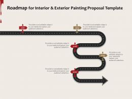 Roadmap For Interior And Exterior Painting Proposal Template Ppt Powerpoint Presentation Styles