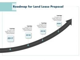 Roadmap For Land Lease Proposal Ppt Powerpoint Presentation Outline Good
