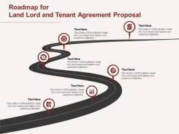Roadmap For Land Lord And Tenant Agreement Proposal Ppt Powerpoint Presentation Gallery Maker