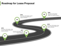 Roadmap For Lease Proposal Ppt Powerpoint Presentation Portfolio Example