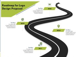 Roadmap For Logo Design Proposal Ppt Powerpoint Presentation Gallery Layout