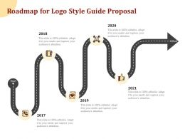 Roadmap For Logo Style Guide Proposal Ppt Powerpoint Presentation Gallery