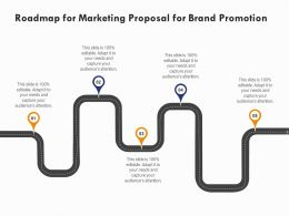 Roadmap For Marketing Proposal For Brand Promotion Ppt Powerpoint Presentation Styles Slideshow