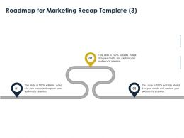 Roadmap For Marketing Recap Template Ppt Powerpoint Presentation Styles Inspiration