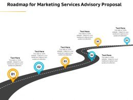 Roadmap For Marketing Services Advisory Proposal Ppt Gallery