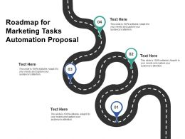 Roadmap For Marketing Tasks Automation Proposal Ppt Powerpoint Presentation Visuals