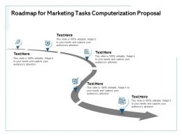 Roadmap For Marketing Tasks Computerization Proposal Audiences Attention Ppt Powerpoint Example 2015