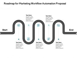 Roadmap For Marketing Workflow Automation Proposal Editable Ppt Powerpoint Presentation Designs