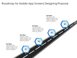 Roadmap For Mobile App Screens Designing Proposal Editable Ppt Powerpoint Presentation Gallery