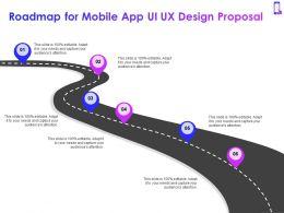 Roadmap For Mobile App Ui UX Design Proposal Ppt Powerpoint Presentation Graphics