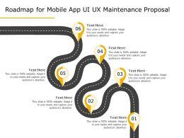 Roadmap For Mobile App UI UX Maintenance Proposal Ppt Demonstration