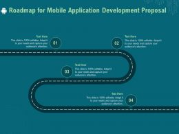 Roadmap For Mobile Application Development Proposal Ppt Example File