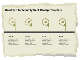 Roadmap For Monthly Rent Receipt Template Ppt Powerpoint Infographics Introduction