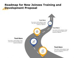 Roadmap For New Joinees Training And Development Proposal Ppt Powerpoint Shapes