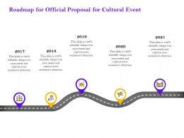 Roadmap For Official Proposal For Cultural Event Ppt Powerpoint Presentation Icon Influencers