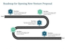 Roadmap For Opening New Venture Proposal Ppt Powerpoint Presentation Samples