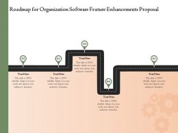 Roadmap For Organization Software Feature Enhancements Proposal Ppt Powerpoint Template