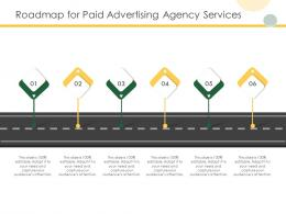 Roadmap For Paid Advertising Agency Services Ppt Powerpoint Presentation Guide