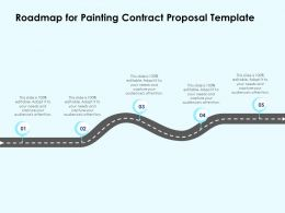 Roadmap For Painting Contract Proposal Template Ppt Powerpoint Slides Show