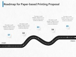 Roadmap For Paper Based Printing Proposal Ppt Powerpoint Presentation Slides Graphics Example
