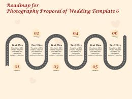 Roadmap For Photography Proposal Of Wedding C1418 Ppt Powerpoint Presentation Layouts