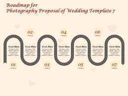 Roadmap For Photography Proposal Of Wedding C1419 Ppt Powerpoint Presentation Show