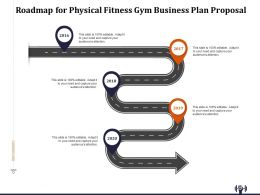 Roadmap For Physical Fitness Gym Business Plan Proposal Ppt File Elements