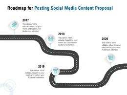 Roadmap For Posting Social Media Content Proposal Ppt Powerpoint Presentation Model