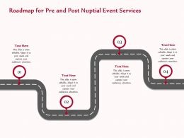 Roadmap For Pre And Post Nuptial Event Services Ppt Templates