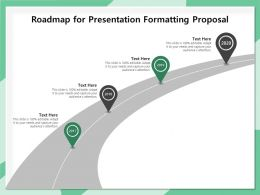 Roadmap For Presentation Formatting Proposal Ppt Ideas