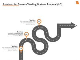Roadmap For Pressure Washing Business Proposal Ppt Powerpoint Presentation Aids