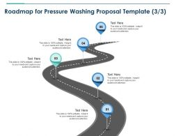 Roadmap For Pressure Washing Proposal Template Five Ppt Powerpoint Gridlines