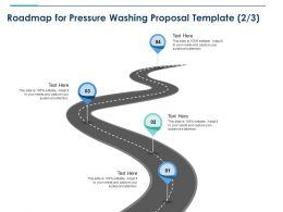 Roadmap For Pressure Washing Proposal Template Four Ppt Powerpoint Rules
