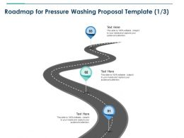 Roadmap For Pressure Washing Proposal Template Three Ppt Powerpoint Picture